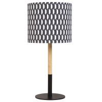 metal lamp with grey fabric lampshade H 49cm | Maisons du Monde