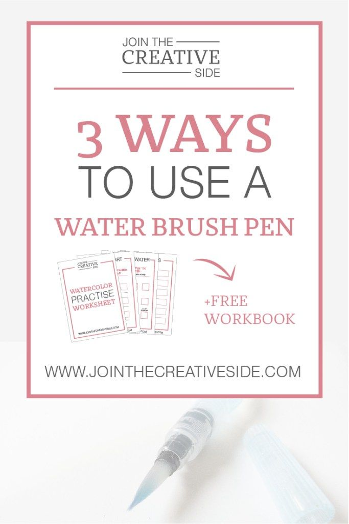 Join The Creative Side | 3 ways to use a water brush pen | In this blog post I will explain 3 ways how you can use a water brush pen: Another calligraphy tool that I really love.