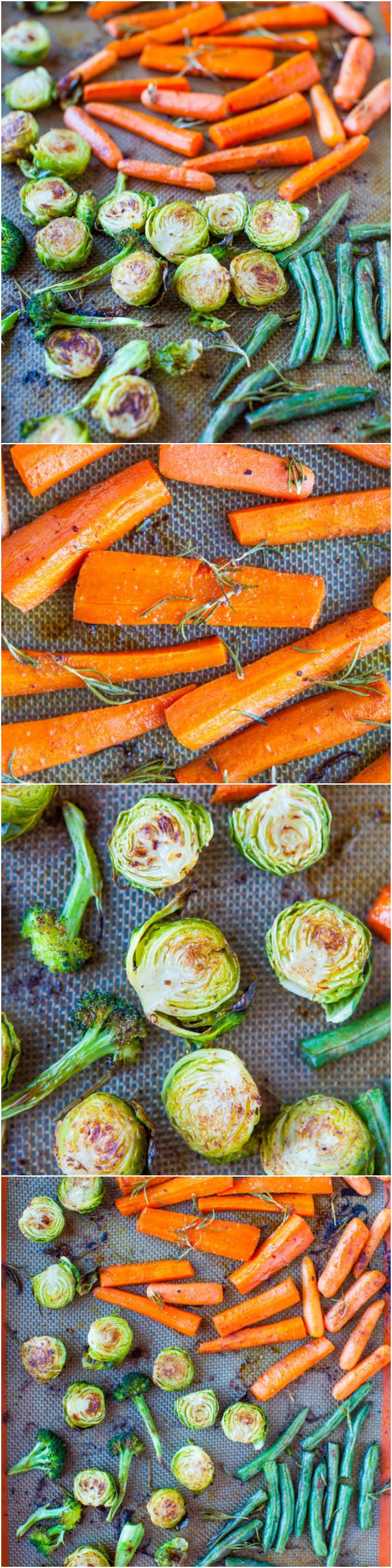 Lemon Rosemary Coconut Oil Roasted Vegetables (vegan, GF) - Trying to eat more veggies? Try this flavorful, satisfying & easy recipe made with healthy coconut oil!