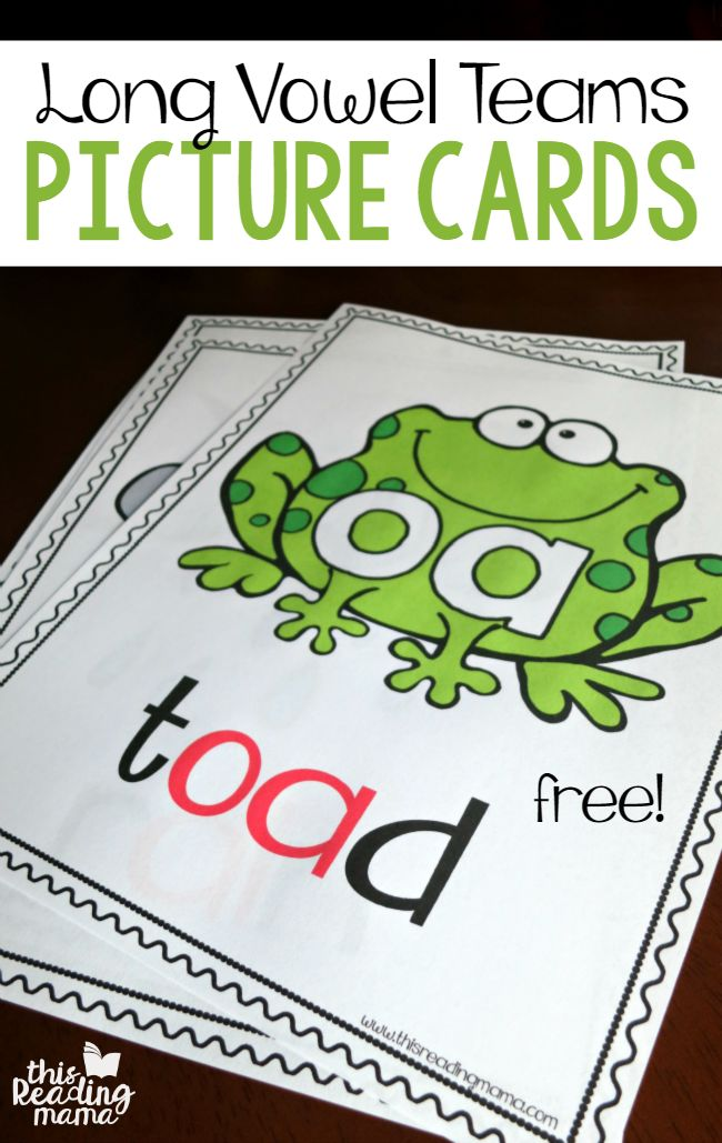 Long Vowel Teams Phonics Picture Cards  FREE  - This Reading Mama