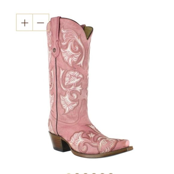 Corral PINK cowgirl boots EUC pink cowboy / cowgirl boots! These are awesome and so pretty but I never wear them. Only worn 2 times maybe! These would be a great Valentine's Day gift to yourself ;)) Corral Shoes