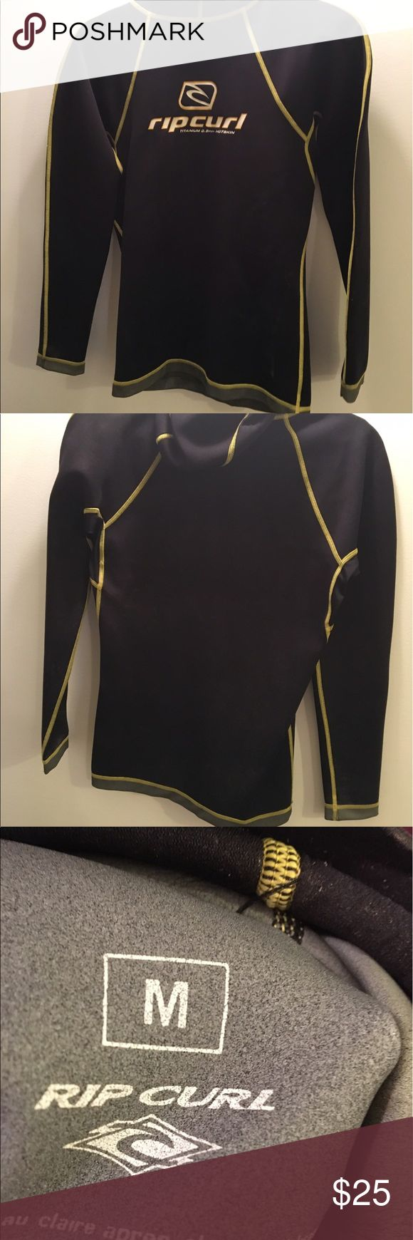 Rip Curl hooded neoprene top Worn maybe 5 times. Excellent condition and perfect layer underneath a full suit. Size medium. Rip Curl Swim Coverups