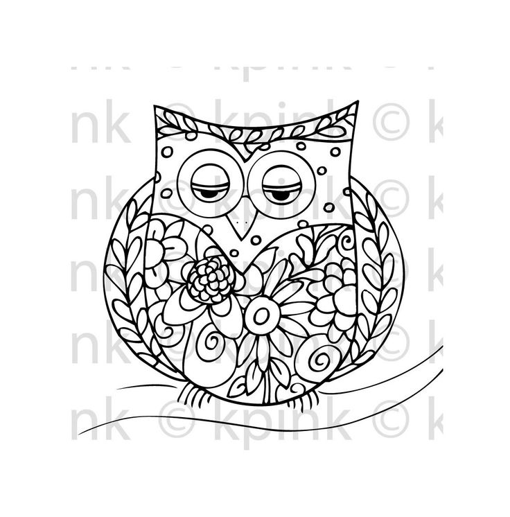tattoo owl coloring pages - photo#29