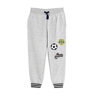 Mix & Match Boy's 4-8 Fleece Joggers With Patches