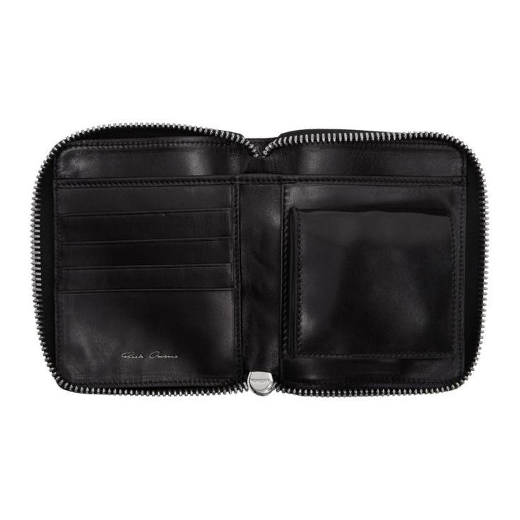 Rick Owens - Black Small Zipped Wallet