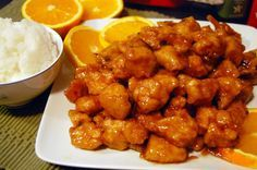"""Return of the Yummy:Panda Express Orange Chicken, added a splash of Oj, and extra zest. Kids didn't like """"the floating stuff"""" in the sauce, maybe strain it next time?"""