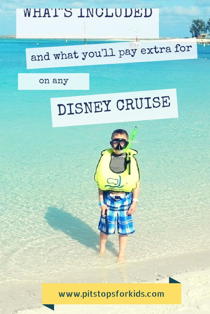 Learn the hidden costs on any Disney Cruise: what's included, and what you'll pay extra for! http://pitstopsforkids.com/2012/04/whats-included-and-what-youll-pay-extra-for-onboard-a-disney-cruise/