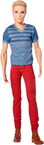 Barbie Fashionistas Ken Doll Red Jeans and Blue Tee -- You can get more details by clicking on the image.