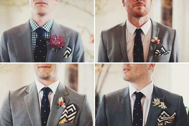 polka dotted ties: Groomsmen Outfits, Polka Dots, Grey Suits, Wedding, Groomsman Gifts, Chevron Pockets, Groomsmen Ideas, Pockets Squares, Pocket Squares