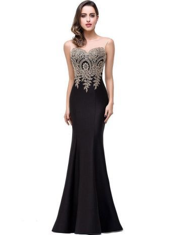 Flash Sale Embroidery Sequined Contrast O Neck Sleevesless Evening