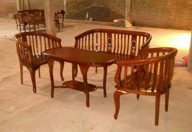 Desain kursi teras kayu jati model klasik