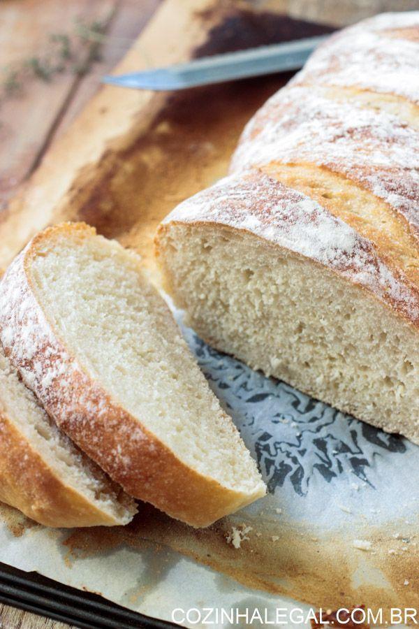 Pão caseiro sem sova fácil • Cozinha Legal
