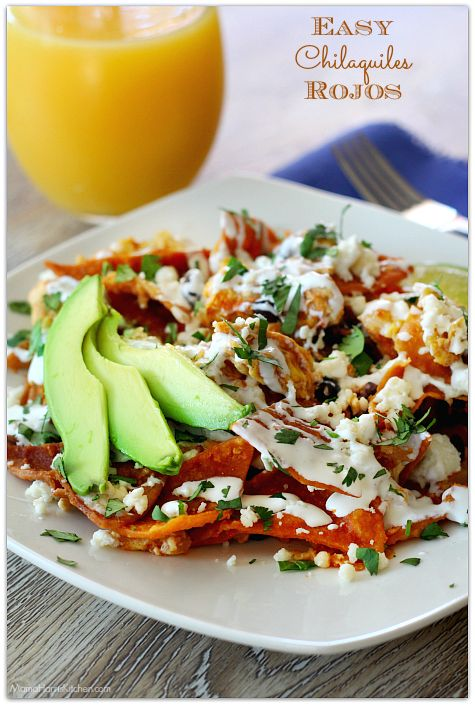 Easy Chilaquiles Rojos with Cacique #CaciqueHowTo #GoAutentico #socu #ad | Mama Harris' Kitchen