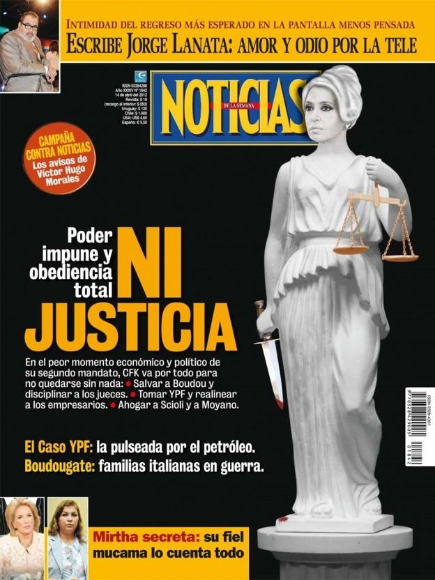 Tapa Revista Noticias de esta semana