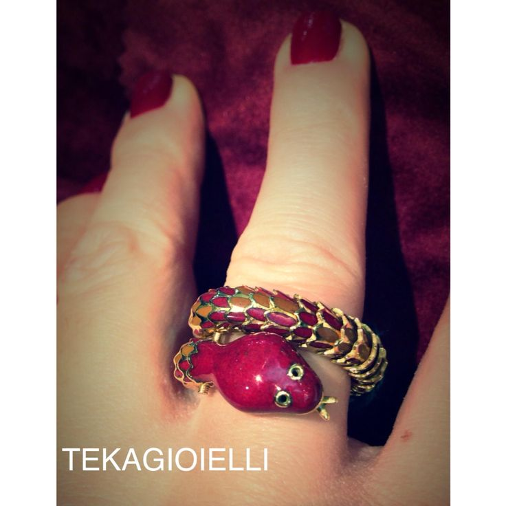 #ring #serpe #snake #gold #yellowgold #725 #red