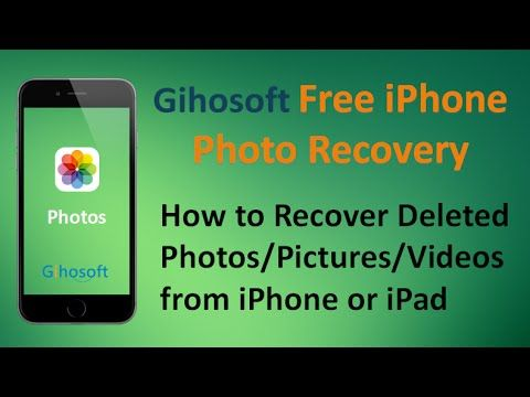 Have you ever accidentally deleted pictures and videos from iPhone, iPad or iPod touch? Don't worry. This YouTube video will show you how to recover deleted photos/pictures/videos form iPhone or iPad with Gihosoft Free iPhone Data Recovery software.