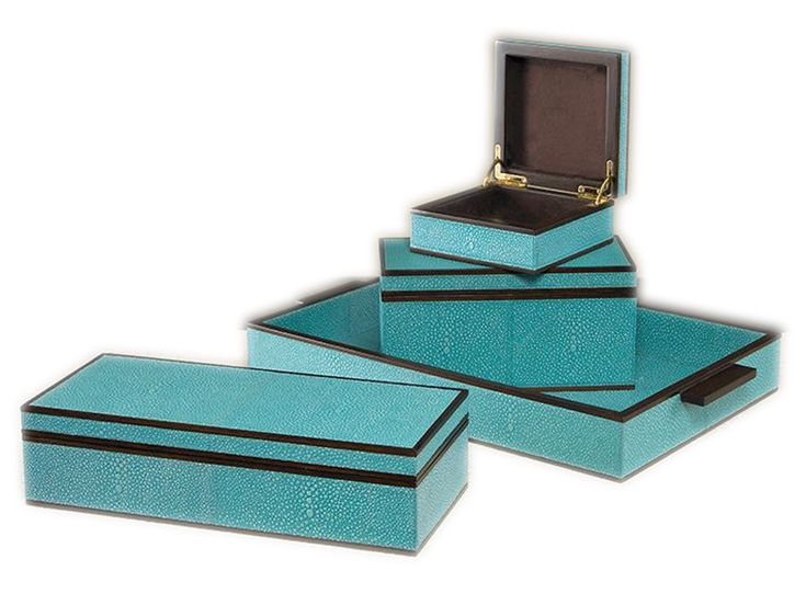 Buy Imogen Boxes by Mr Brown London - Limited Edition designer Accessories from Dering Hall's collection of Contemporary Mid-Century / Modern Traditional Transitional Decorative Objects.