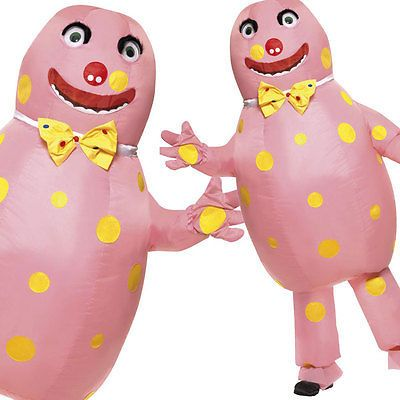 90s Mr Blobby Inflatable Fancy Dress Costume Ideas 1990 Outfit Smiffys 38054