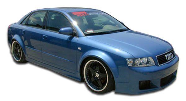 2002-2008 Audi A4 S4 4DR Wagon Duraflex R-1 Side Skirts Rocker Panels - 2 Piece