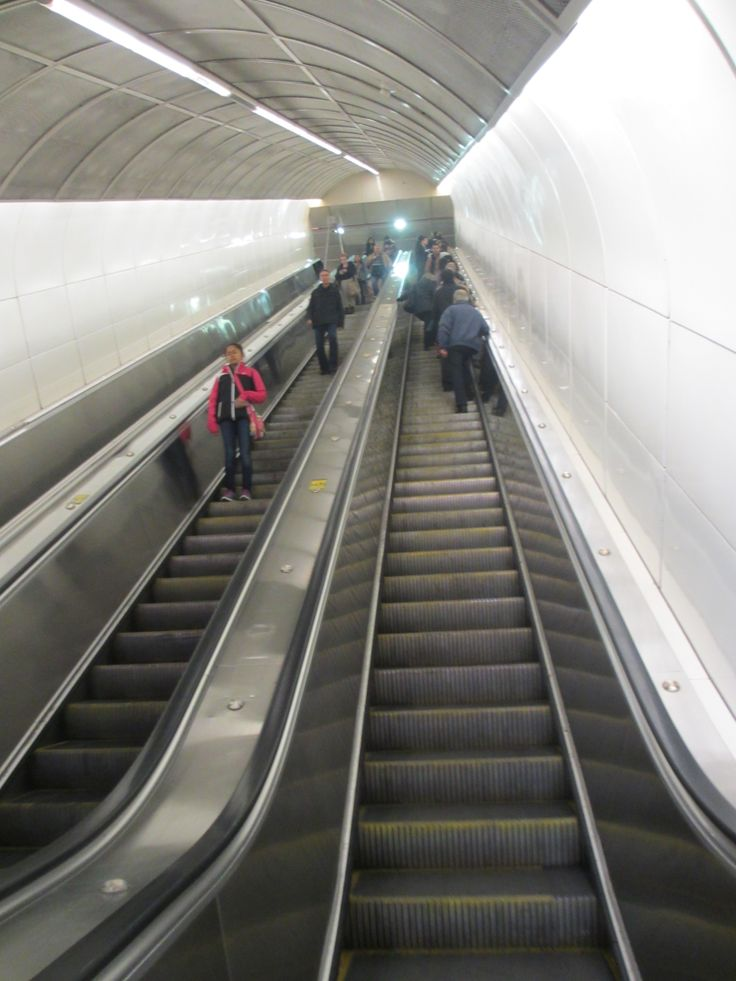 The Long Escalator - Granville SkyTrain Station