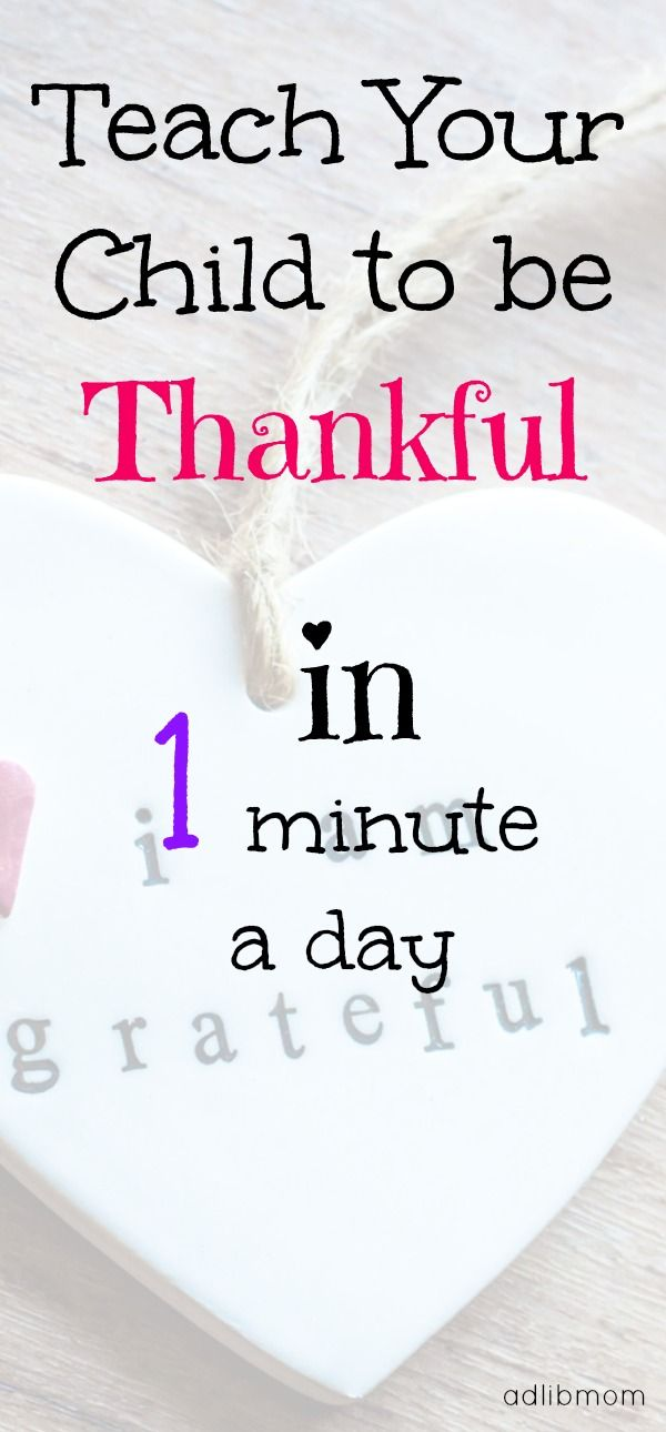 One daily activity to teach your child to be thankful