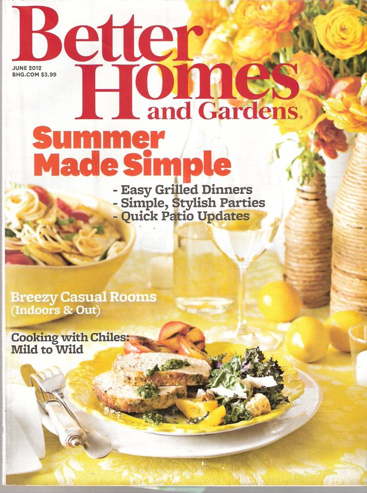 Better Homes And Gardens Magazine June 2012 Summer Made Simple
