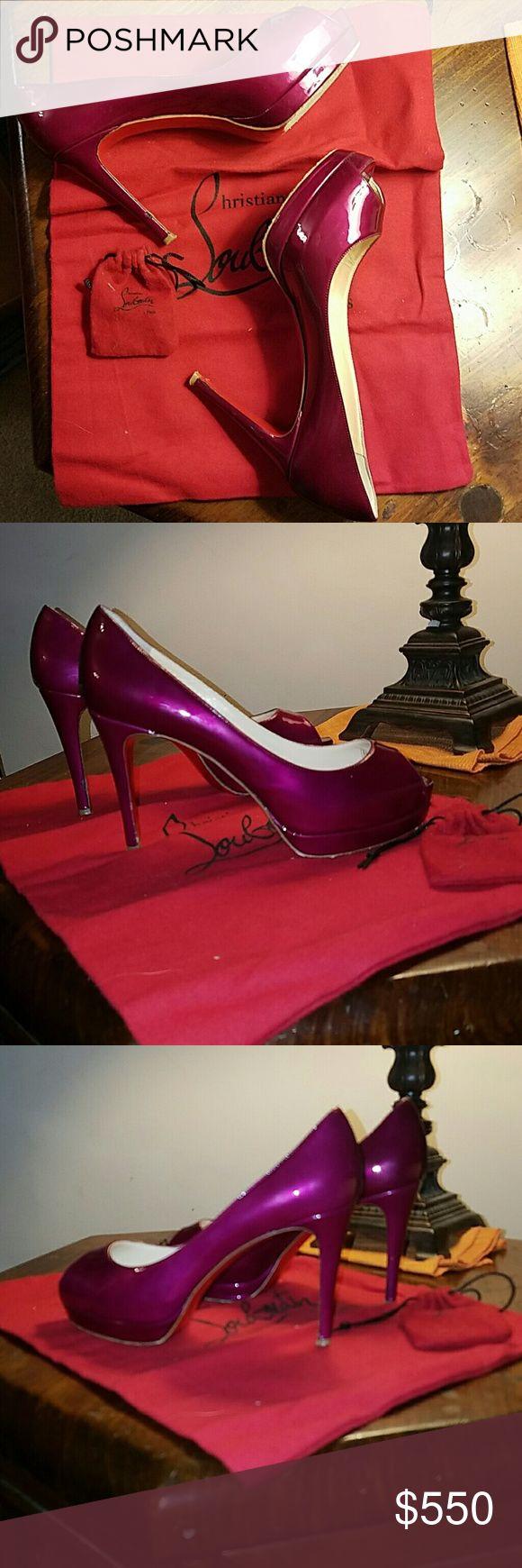 pink studded louboutins christian louboutin heels size 37