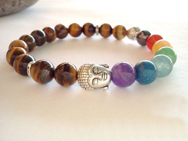Buddha Lotus 7 Chakra bracelet 7 Chakra bracelet by SoCutiful, $15.99