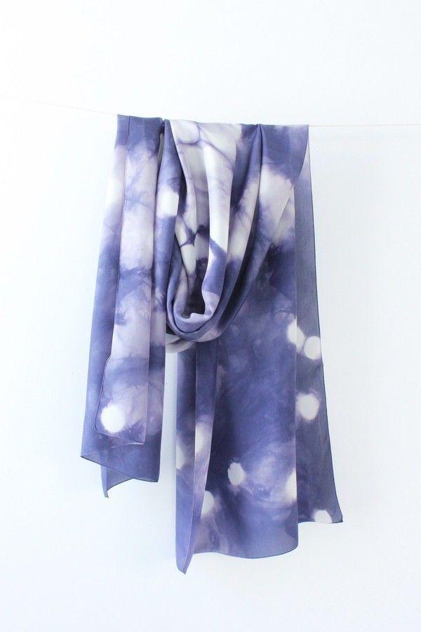 Foulard Itajime Shibori Pois, natural dyes