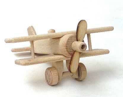 Doppeldecker Flugzeug Holzspielzeug