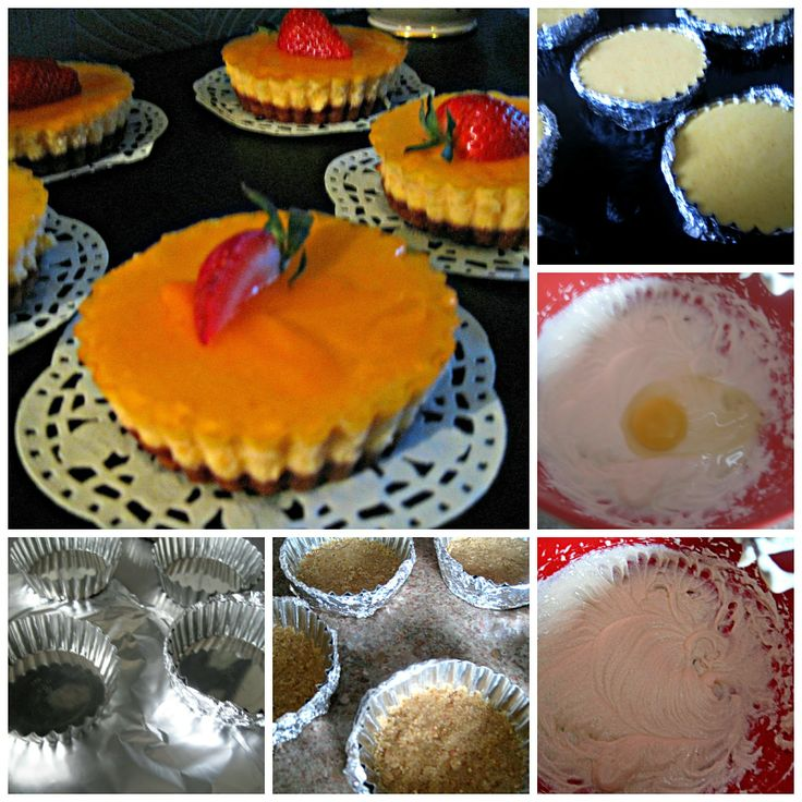 step by step, cheesecake