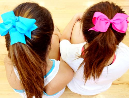 Bows: Ribbons Bows, Blue Harmony, Sweetest Blue, Bestfriends, Blue And Pink Bff, Bows Ponytail, Hair Bows, Pink Girly, Girly Bows