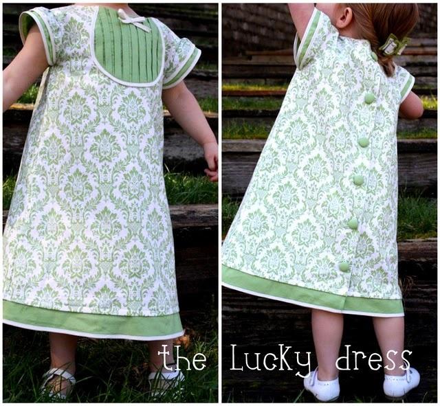 Lucky DressDresses Pattern, Dress Tutorials, Spring Dresses, Dresses Tutorials, Day Dresses, Lucky Dresses, Baby Dresses, Kids Clothing, Green Dresses