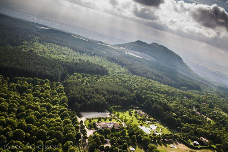 Veduta aerea del Parco dei Cimini