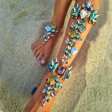 Best lady Boho Hot Cheap Sexy Leg Chain Ankle Bracelets Sandals Beach Foot Jewelry Summer Luxury Wedding Crystal Anklets 4483     Tag a friend who would love this!     FREE Shipping Worldwide     Get it here ---> http://www.baggthis.com/best-lady-boho-hot-cheap-sexy-leg-chain-ankle-bracelets-sandals-beach-foot-jewelry-summer-luxury-wedding-crystal-anklets-4483/