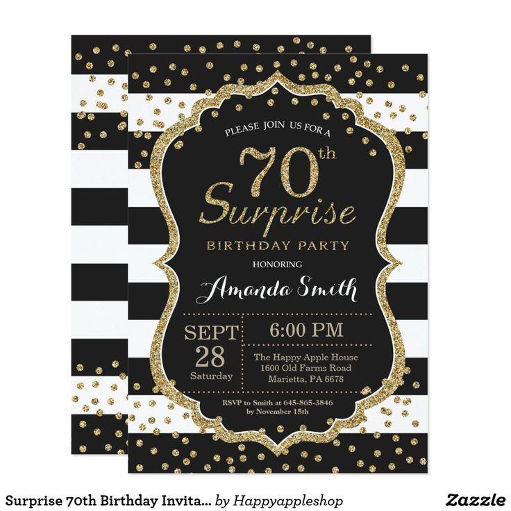 Best 25+ 70th Birthday Invitations Ideas On Pinterest