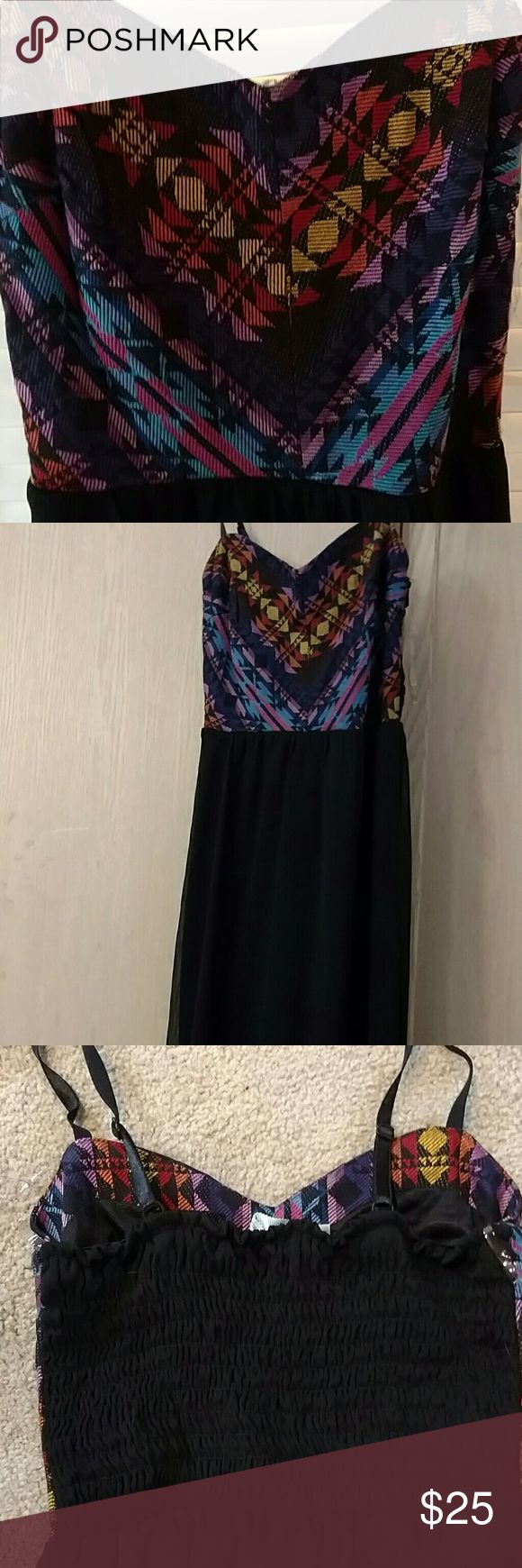 Tribal maxi dress New!! Only worn once!! Not miss me!! The brand is Maurices Miss Me Dresses Maxi