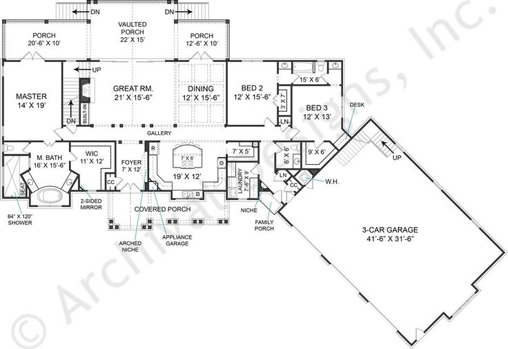 Fairhope house plan first floor plan archival designs for Fairhope house plan