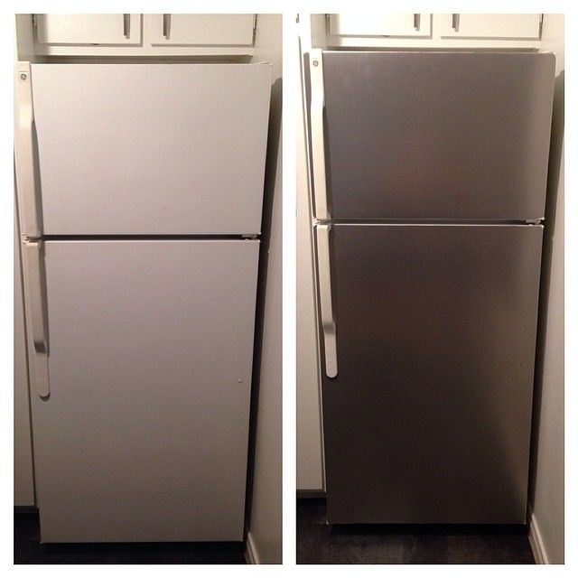 how to clean faux stainless steel appliances