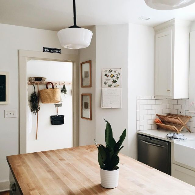 bright and clean kitchen space