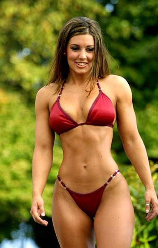 Body building woman sexy
