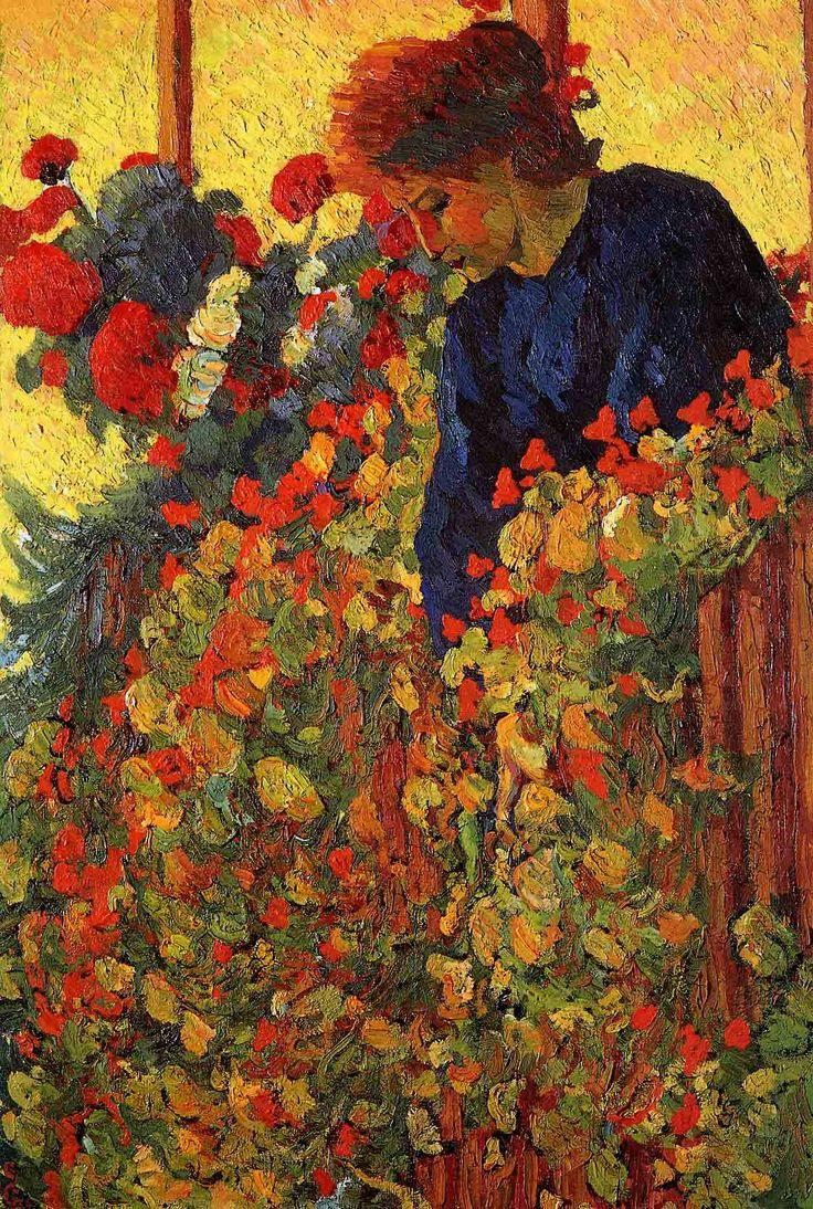 Garden, Giovanni Giacometti. Swiss (1868 - 1933)  Father of Alberto and Diego Giacometti and architect Bruno Giacometti.