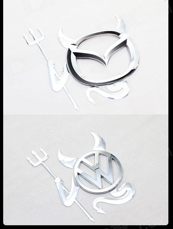 3D Evil Pattern Car Decorative Sticker Badges Emblem - Free Shipping - DealExtreme