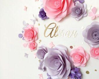 Papel gigante Flores papel pared papel flor pared por MioGallery