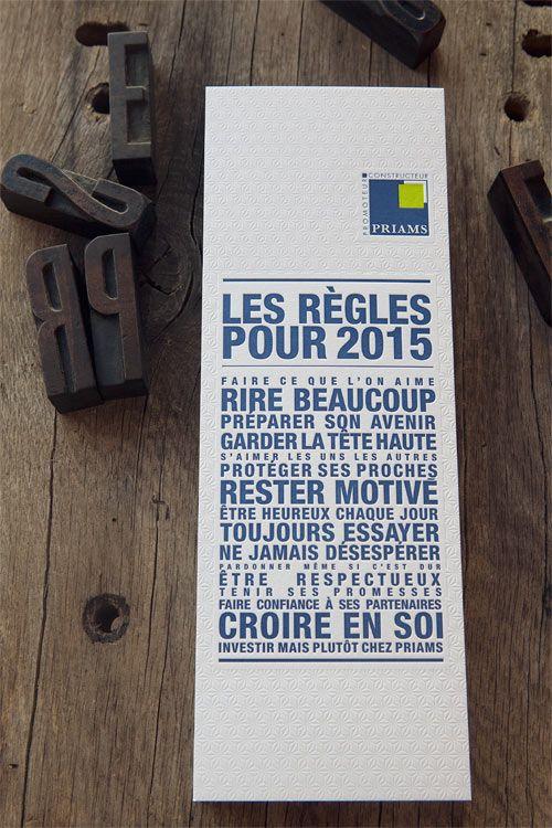 Cartes de voeux PRIAMS / design Les Alchimistes