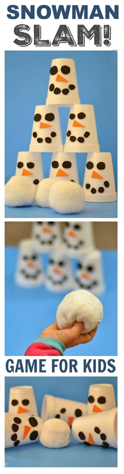 SNOWMAN SLAM! Game for Kids. A great way to get them moving indoors