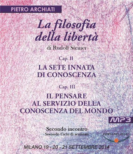 La Filosofia della Libertà 2 - secondo ciclo - copertina CD