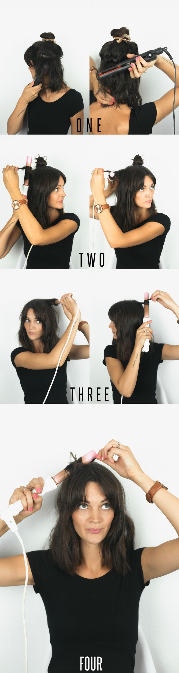 Hair Tutorial // How To Get Natural Looking Curls for Short Hair — Treasures & Travels