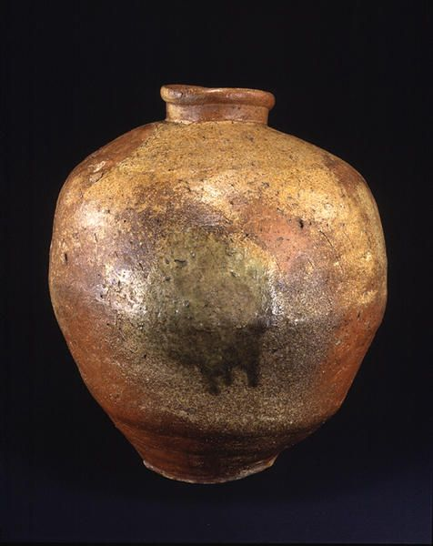 TitleLarge Jar ProvenanceShigaraki kiln, Shiga pref. PeriodMuromachi period Century15-16c MaterialsShigaraki ware DimensionsH-48.5 D-42