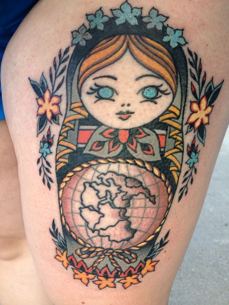 old world map tattoo russian nesting doll with pangea old world map thigh tattoo tattoos. Black Bedroom Furniture Sets. Home Design Ideas